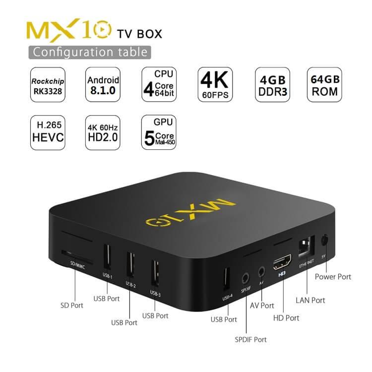 MX10-RK3328 4G64G