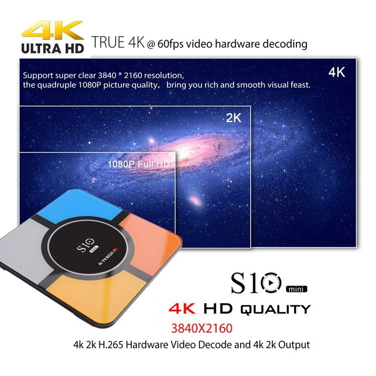R-TV BOX S10 MINI Wireless Charging 4K Android TV Box