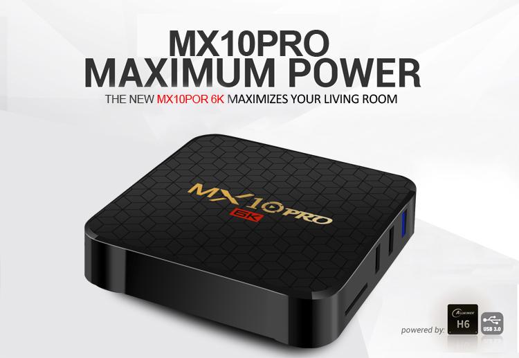 R-TV BOX MX10 PRO Android TV Box