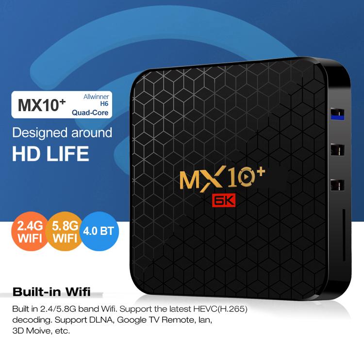 New arrival MX10  Dual wifi with BT 4.0 4gb ram 32gb rom TV BOX